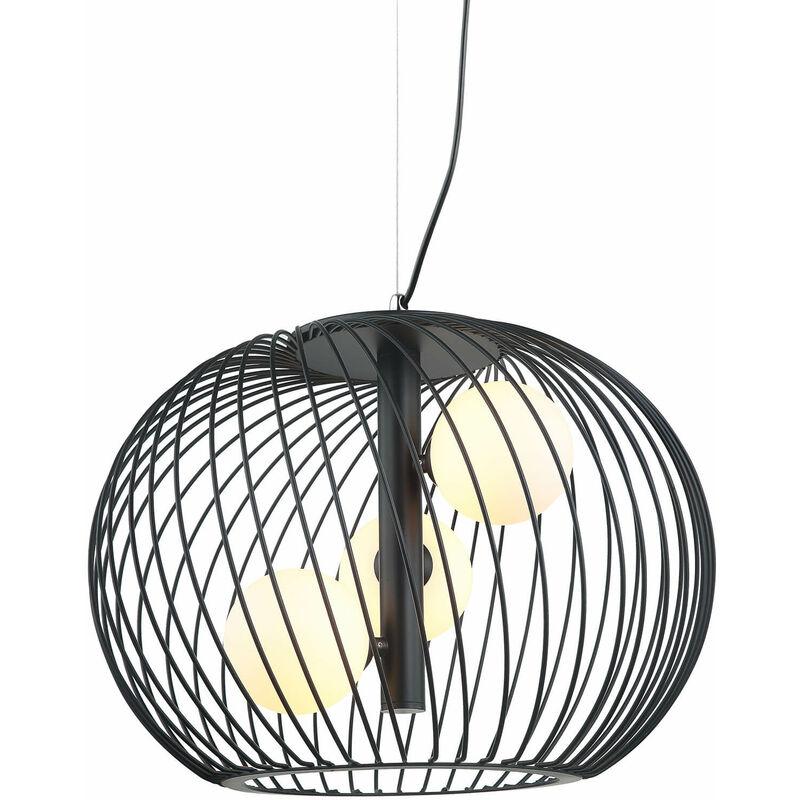 11-italux - Moderne Pendelleuchte Clarisa Black