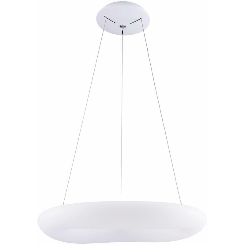 11-italux - Moderne Pendelleuchte Donato weiß