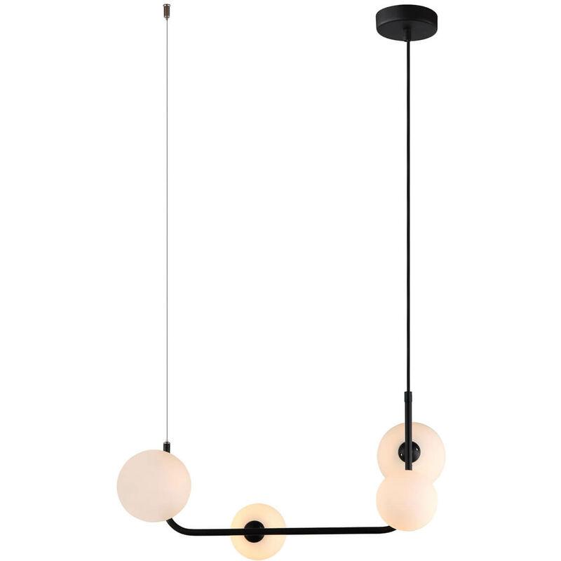 11-italux - Moderne Pendelleuchte Ferrand Black