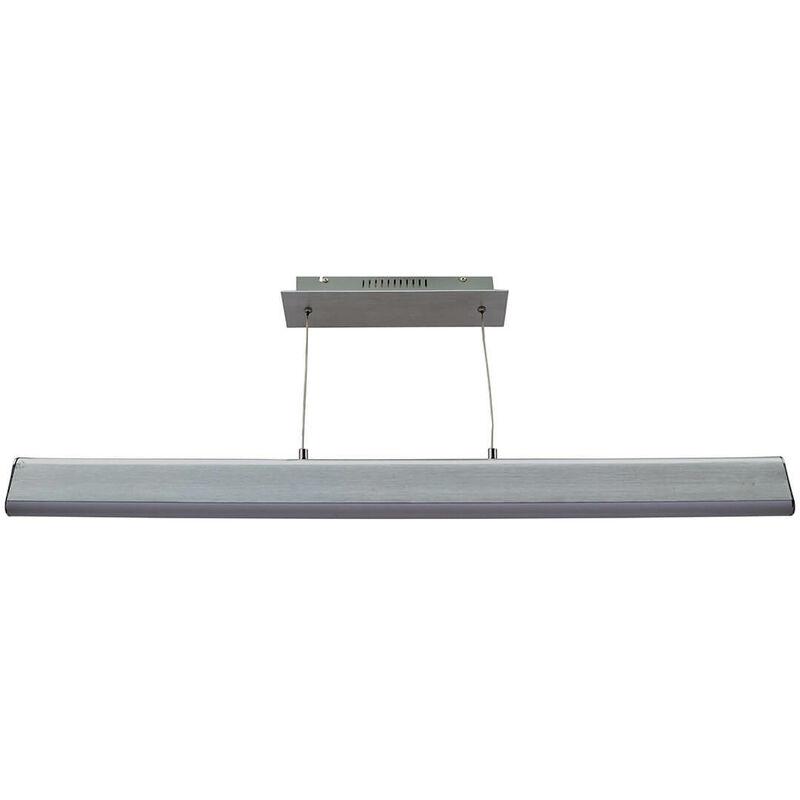 11-italux - Moderne Pendelleuchte Lemo Gebürstetes Silber
