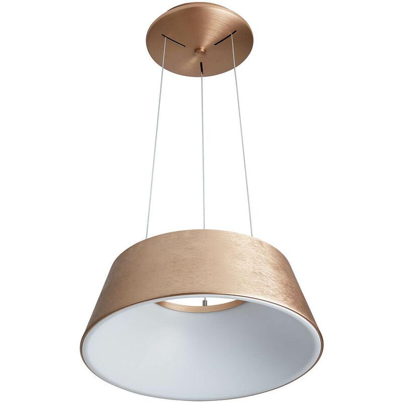 11-italux - Moderne Pendelleuchte Lunga Gebürstetes Gold