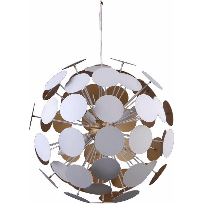 11-italux - Moderne Pendelleuchte Mailone White, Gold