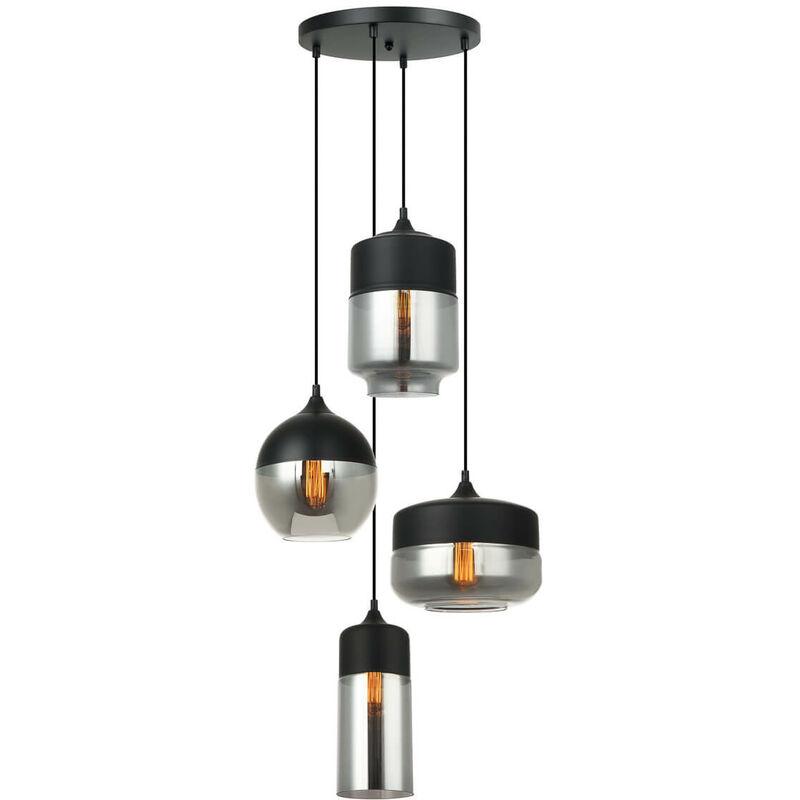 11-italux - Moderne Pendelleuchte Molina Black