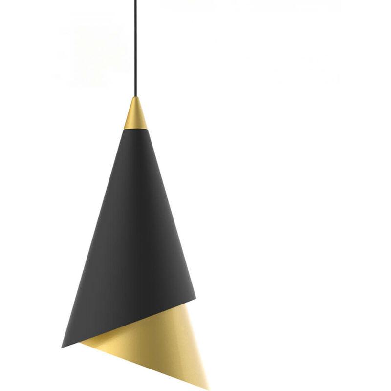 Moderne Pendelleuchte Raalto Black, Gold - 11-ITALUX