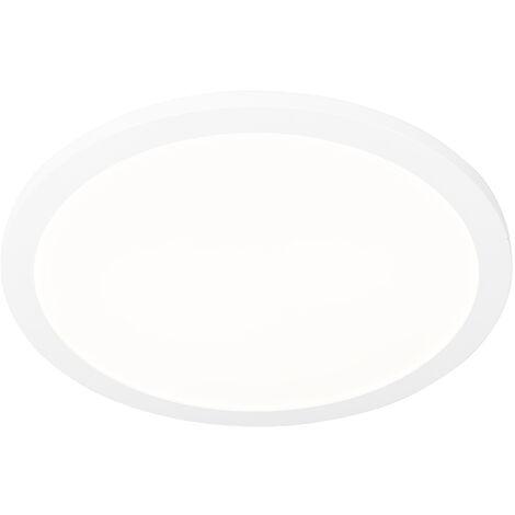 Moderne plaffonière wit 40 cm 3-staps dimbaar incl. LED - Steve