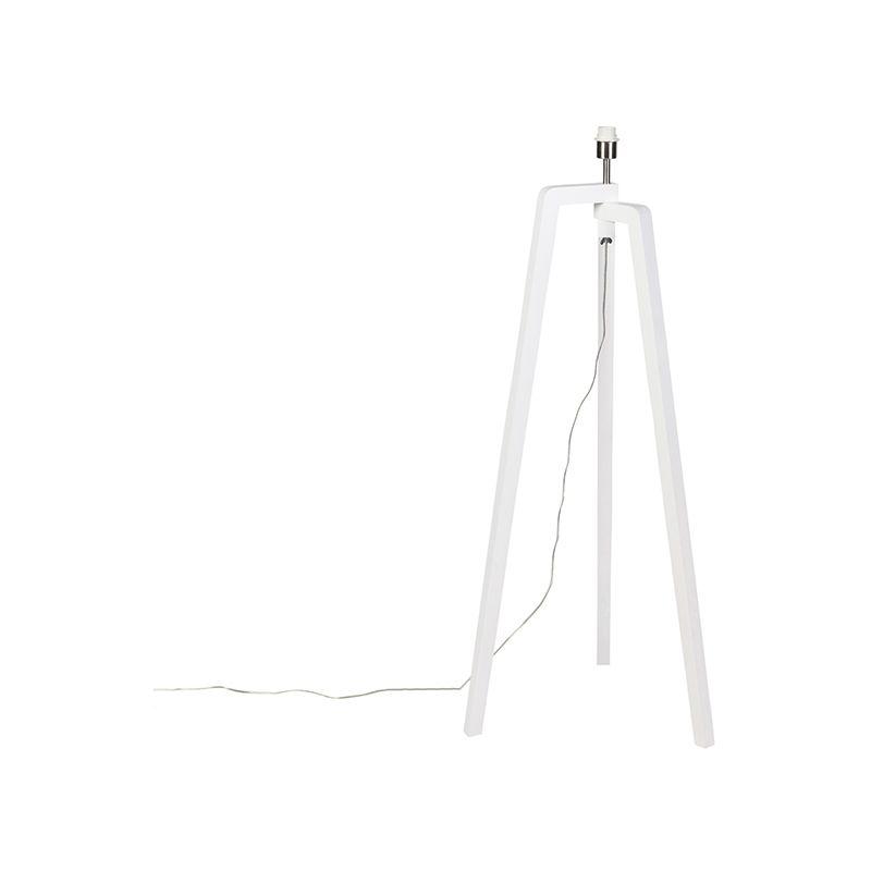Moderne Stehleuchte weiß ohne Schirm - Puros - QAZQA