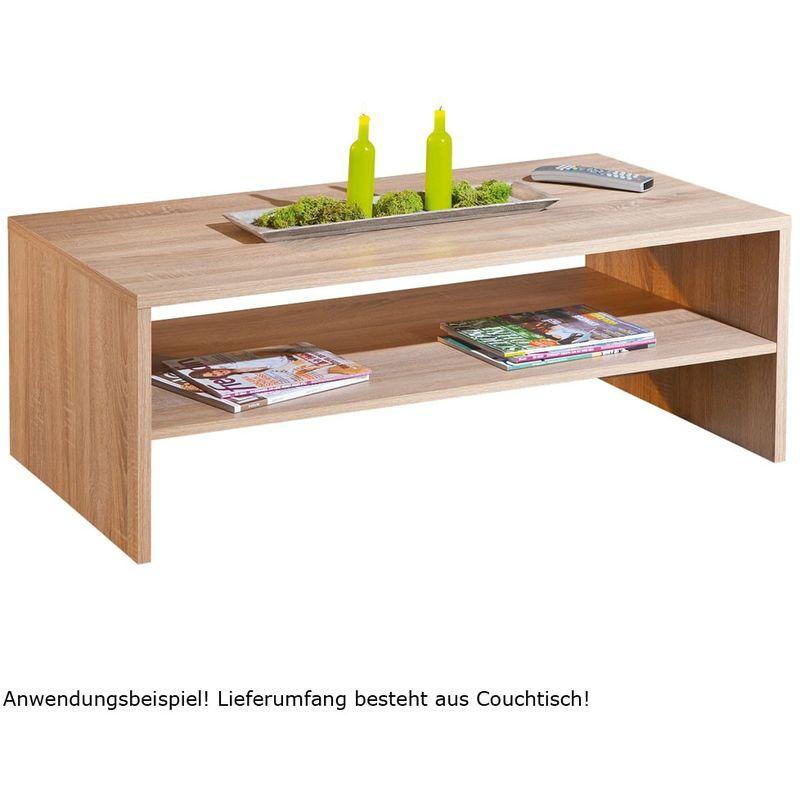 Tisch Wohnzimmertisch Ablage Wohnzimmer KF-Board Sonoma Eiche Couchtisch Absoluto 11