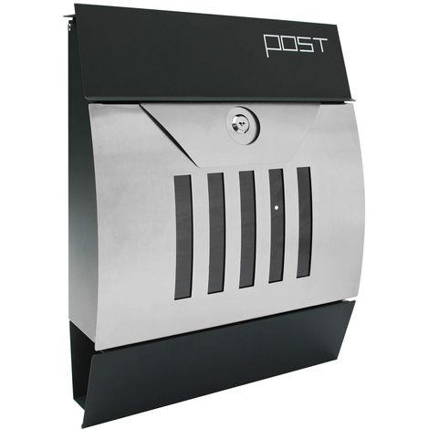 Moderner Design Briefkasten Postkasten Wandbriefkasten Wandmontage Zeitungsfach Zeitungsrolle V2Aox Edelstahl