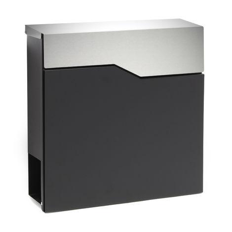 Moderner Design Briefkasten V19 Schwarz Edelstahl ...