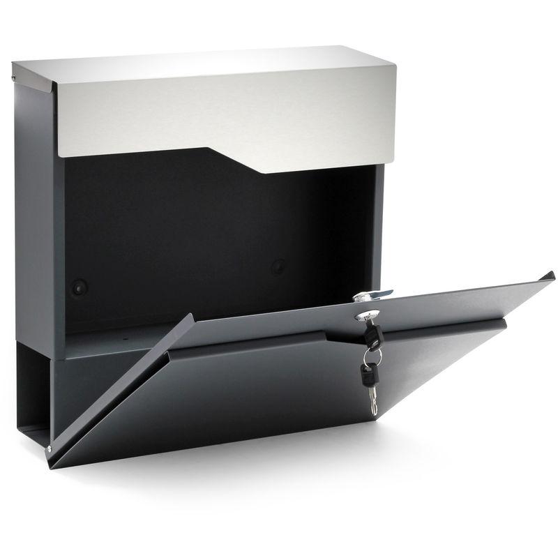 Design Briefkasten V22 Postkasten Zeitungsrolle Wandbriefkasten