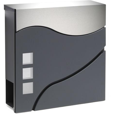 Moderner Design Briefkasten V28 Anthrazit pulverbeschichtet ...