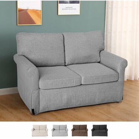 Modernes 2-Sitzer-Sofa im klassischen Design für Wohnzimmer und Wohnzimmer aus Stoff Epoque