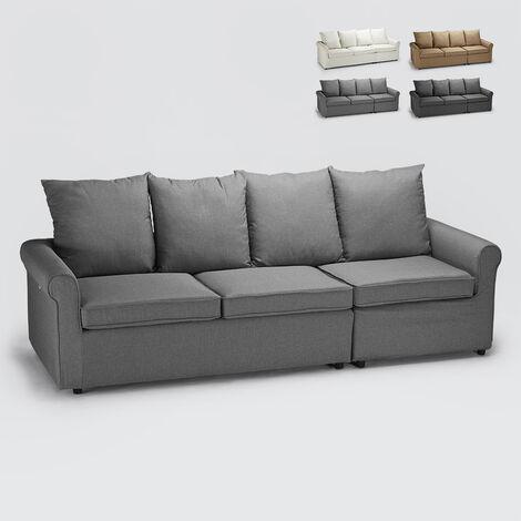 Modernes 3-Sitzer-Schlafsofa mit Abnehmbarem Bezug Lapislazzuli