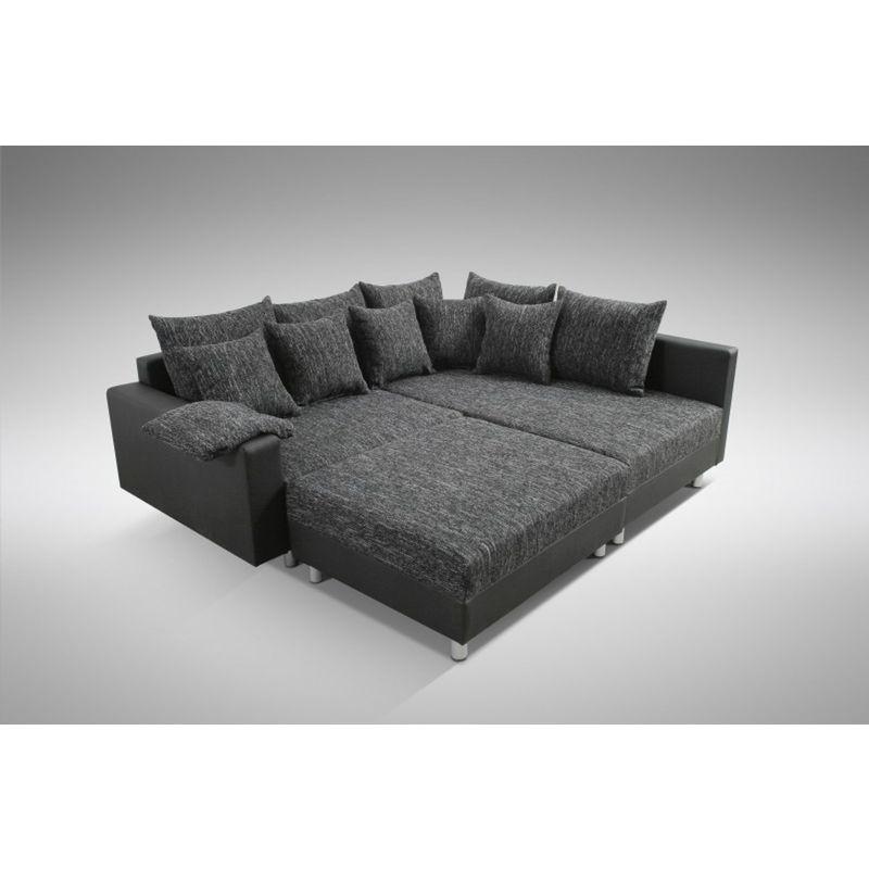 Modernes Sofa Couch Ecksofa Eckcouch In Schwarz Eckcouch Mit