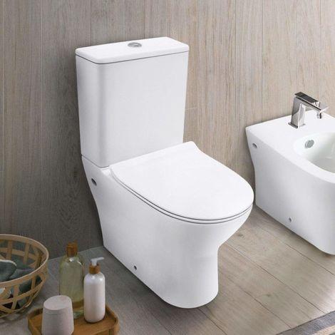 Modernes Stand-WC mit niedrigem Spülkasten ROCK