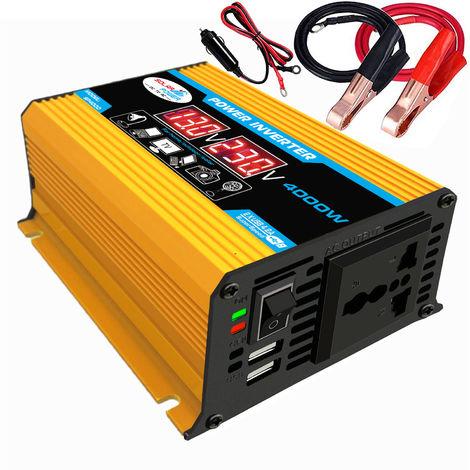 Modificado de onda sinusoidal, 4000W, DC 12V a 220V AC convertidor