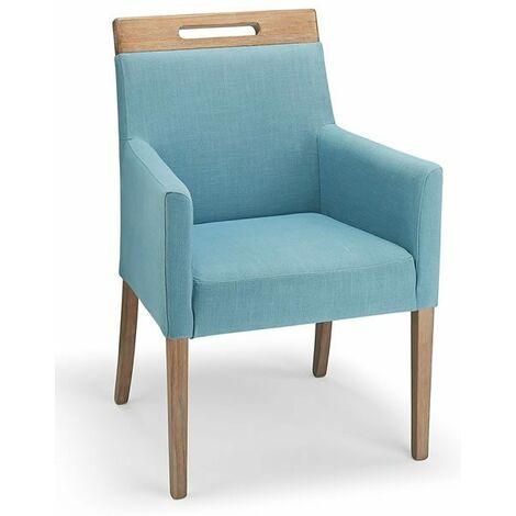 "main image of ""Modosi Fabric Wood Chair Teal"""