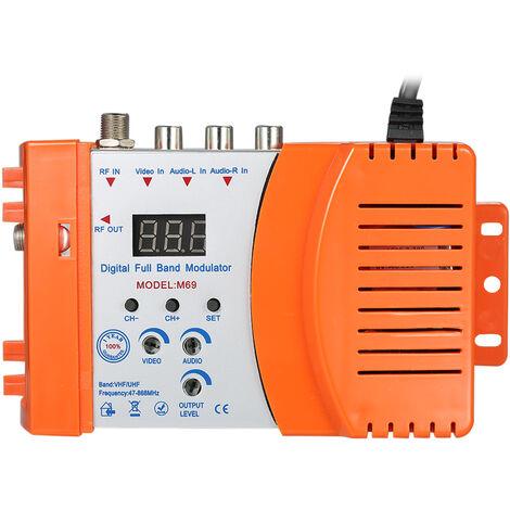Modulador RF Audio Video TV Converter, RHF UHF Amplificador de senal, AC230V,Naranja(no se puede enviar a Baleares)