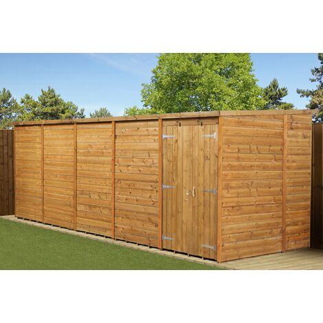 Modular Pent Garden Shed 20x6 No Windows Double Door