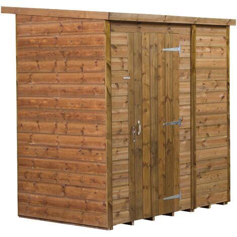 Modular Pent Garden Shed 6x6 No Windows