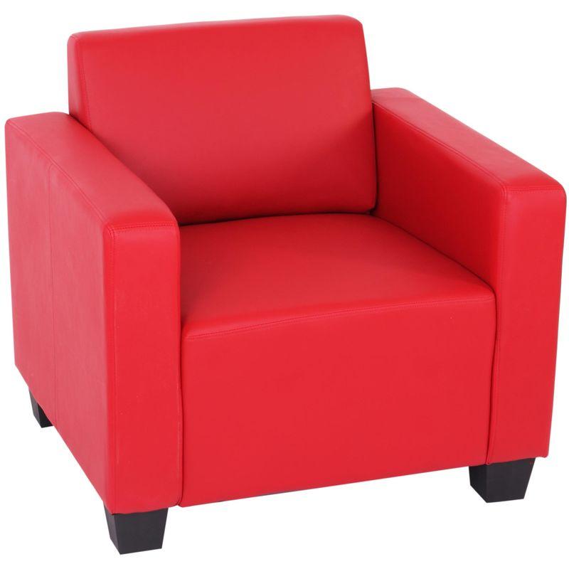 Modular Sessel Loungesessel Moncalieri, Kunstleder ~ rot