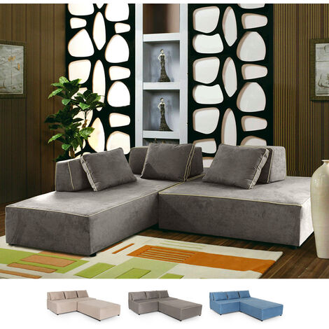 Modulares Sofa mit modernem Design aus 3-Sitzer-Stoff Isla Bonita
