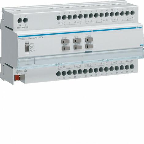 Module 12 sorties volets roulants ou stores a bannes 230V~ 5A (TYM632C)