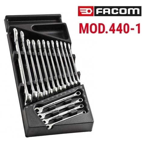 Module 16 clés mixtes OGV 440 de 6 à 24 mm MOD.440-1PB Facom