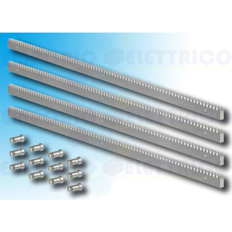 module 4 gear rack in galvanised steel 30x12 + fittings - 4x1meter