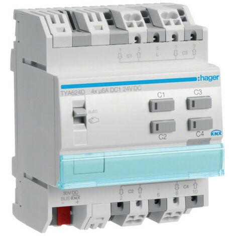 Module 4 sorties volets ou stores 24V DC (TYA624D)