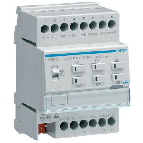 Module 6 sorties chauffage avec régulation (TXM646R)