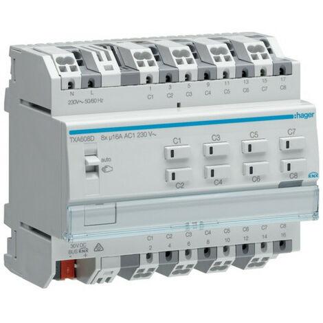 Module 8 sorties 16A/230V~ charge capa/NE (TXA608D)