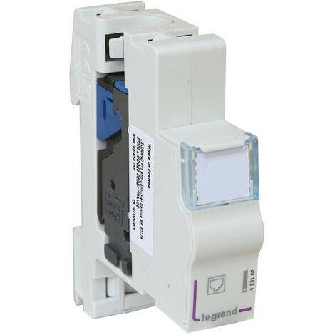 Module de brassage cat.6 FTP certifié PoE pour coffret de communication (413102)