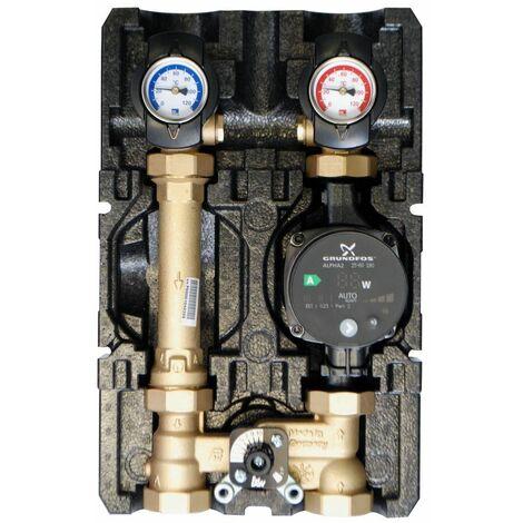 Module de circuit de chauffage K32 DN25 mélangeur 3 voies avec pompe Grundfos
