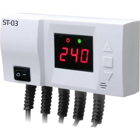 Module de commande pour pompe de chauffage central et ECS LED