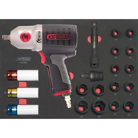 Module de douilles et clé à chocs pneumatique 1/2'', 20 pièces