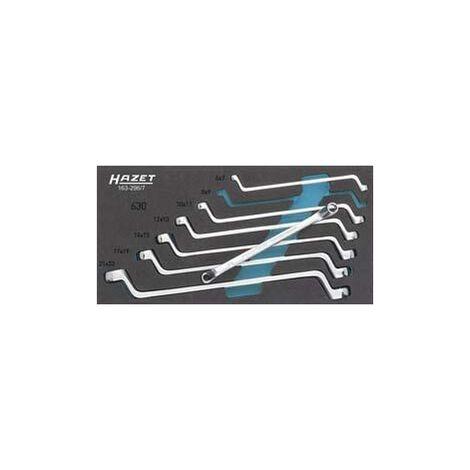Module d'outillage 163-296/7 clés polygonales doubles HAZET 1 PCS