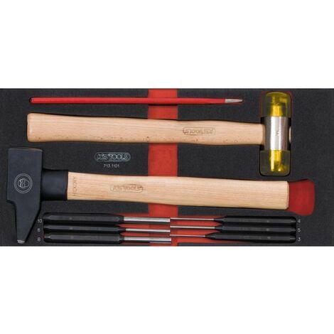 Module d'outils de frappe manche bois, 9 pièces