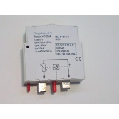 Module enfichable 65kA 1P 400V pour parafoudre débrochable (66654) classe II GE POWER 666543