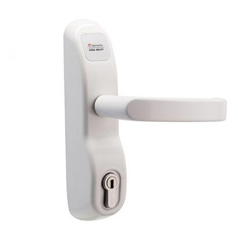 Module extérieur à béquille condamnable par clé PE 13/23 pour antipanique coloris blanc RAL 9016
