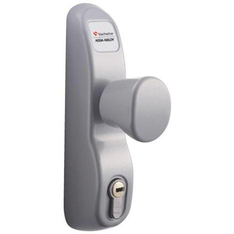 Module extérieur à bouton condamnable par clé PE13/23AV pour antipanique coloris inox