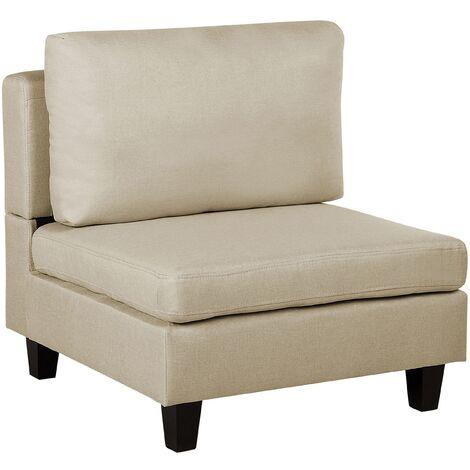 Module fauteuil en tissu beige pour canapé FEVIK