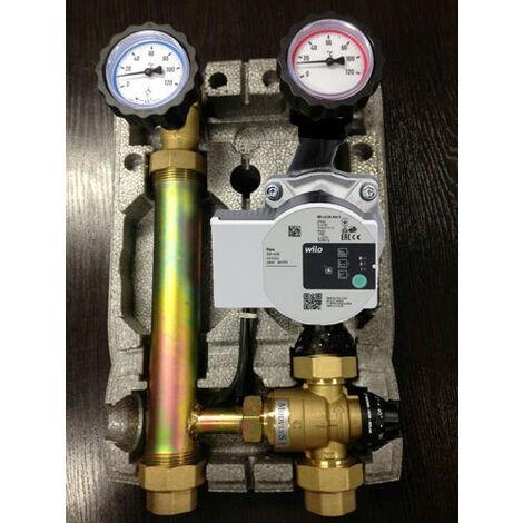 Module hydraulique à mélange Wilo 25-60 pour le chauffage par le sol