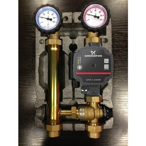 Module hydraulique - groupe de pompe à mélange Grundfos 25-60 pour le chauffage par le sol