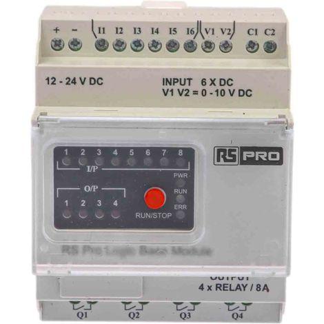 Module logique ModBus Série 1 Port 8 x entrée, 4 x sortie 110 → 240 V c.a. 72 x 90 x 65 mm