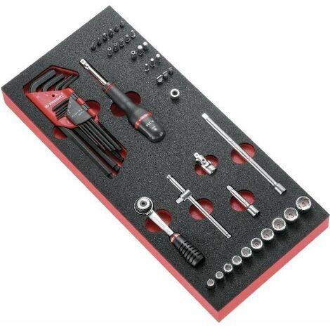 """Module mousse douilles 6 pans 1/4"""" - clés mâles et embouts métriques FACOM - MODM.R1APB"""