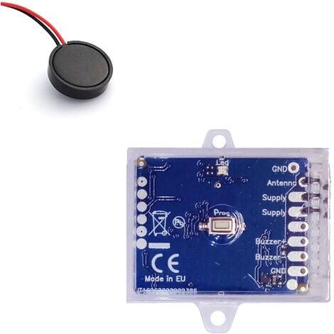 Module radio universel pour gâche électrique avec buzzer - Creasol