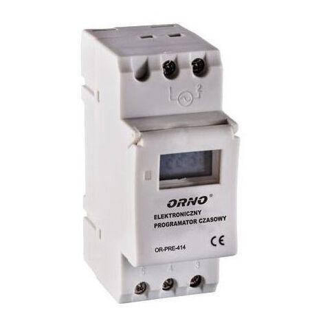 Module rail DIN avec programmateur et écran LCD - Orno