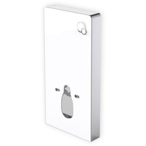 Module sanitaire 805 pour WC suspendu - blanc - avec plaque de décléchement