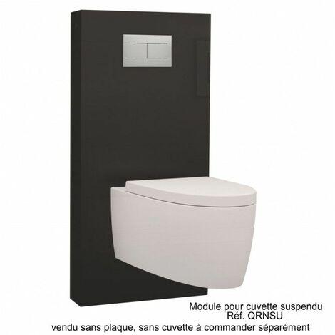 Module sanitaire à commande mécanique noir pour cuvette suspendue